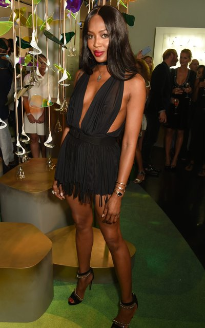 Naomi Campbell attends the opening party for L'Eden by Perrier-Jouet in London's Wardour Street on September 15, 2016 in London, England. (Photo by David M. Benett/Dave Benett/Getty Images for Perrier-Jouet)