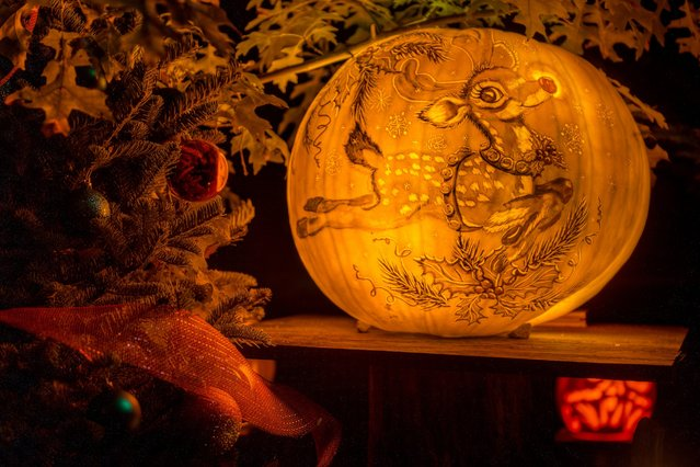"""""""Rudolph the Red Nosed Reindeer"""". (Photo by Frank C. Grace/Courtesy Jack-O-Lantern Spectacular)"""