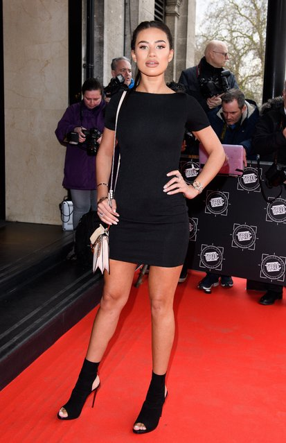 Montana Brown attends the TRIC Awards 2018 held at The Grosvenor House Hotel on March 13, 2018 in London, England. (Photo by Rex Features/Shutterstock)
