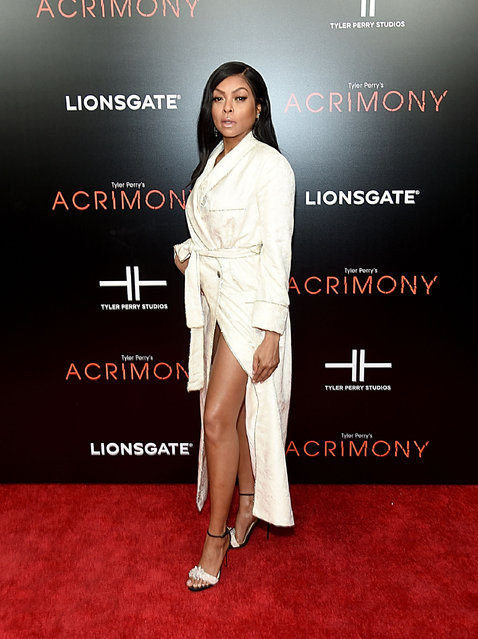 """Taraji P. Henson attends the """"Acrimony"""" New York Premiere on March 27, 2018 in New York City. (Photo by Jamie McCarthy/Getty Images)"""