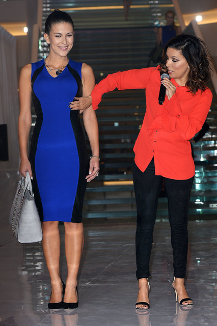 """Eva Longoria launches her own clothing line """"Eva – The Limited"""" at the recently opened Posnania Mall in Poland. Poznan, Poland on Wednesday, October 19, 2016. (Photo by PacificCoastNews)"""