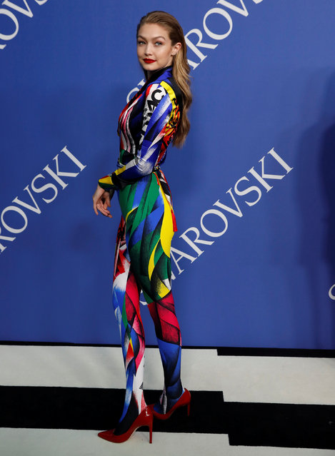 Model Gigi Hadid attends the CFDA Fashion awards in Brooklyn, New York, U.S., June 4, 2018. (Photo by Shannon Stapleton/Reuters)