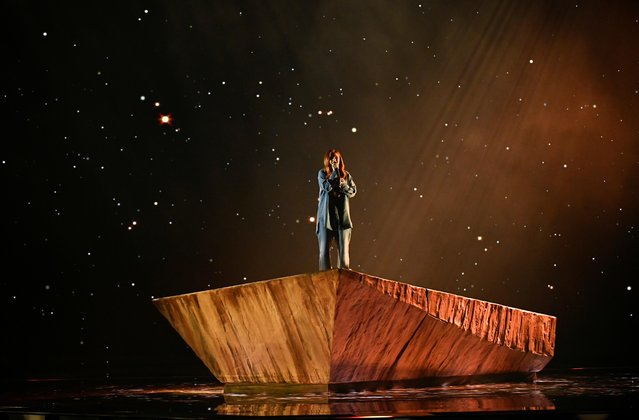 Victoria of Bulgaria performs during the second semi-final of the 2021 Eurovision Song Contest in Rotterdam, Netherlands, May 20, 2021. (Photo by Piroschka van de Wouw/Reuters)