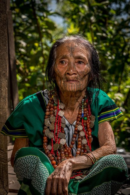 Older woman with face tattoo in, Mindat, Myanmar, November 2016. (Photo by Teh Han Lin/Barcroft Images)