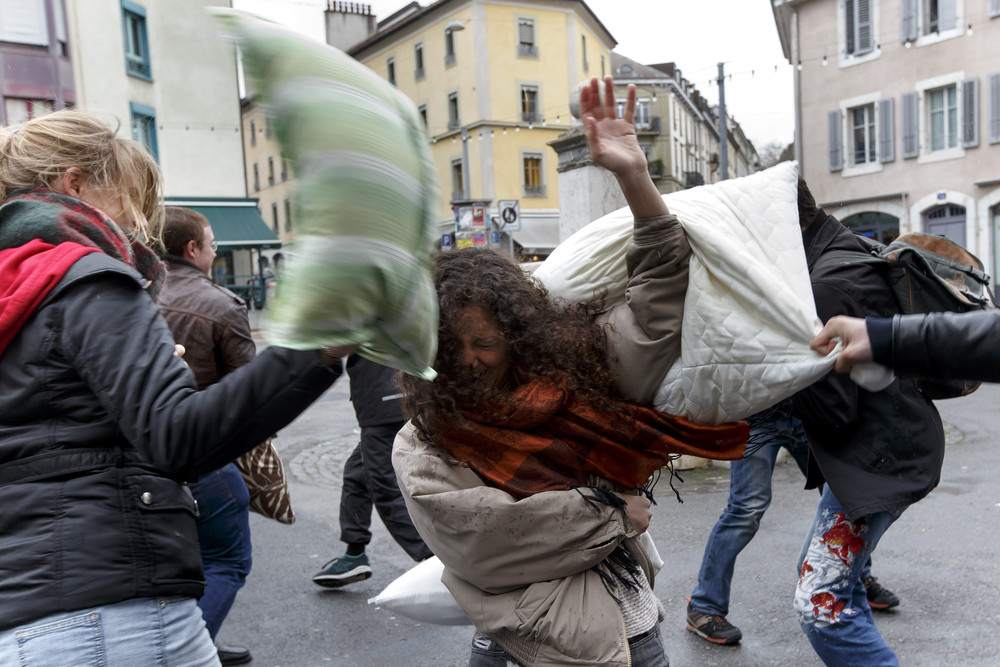 The International Pillow Fight Day
