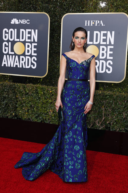 Camilla Belle arrives at the 76th annual Golden Globe Awards at the Beverly Hilton Hotel on Sunday, January 6, 2019, in Beverly Hills, Calif. (Photo by Mike Blake/Reuters)