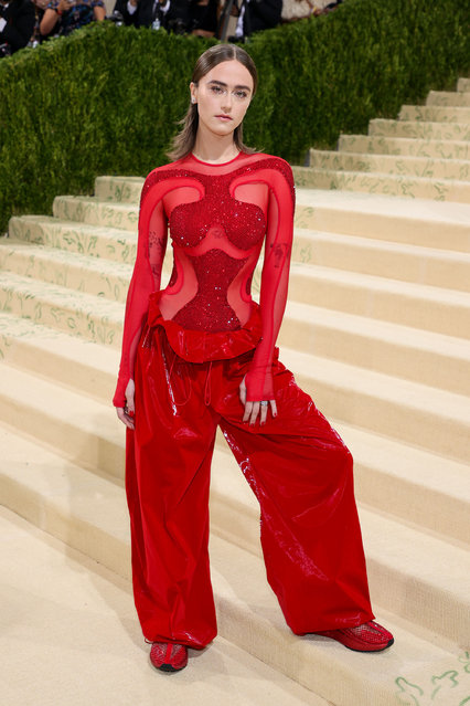 American model Ella Emhoff attends The 2021 Met Gala Celebrating In America: A Lexicon Of Fashion at Metropolitan Museum of Art on September 13, 2021 in New York City. (Photo by Theo Wargo/Getty Images)
