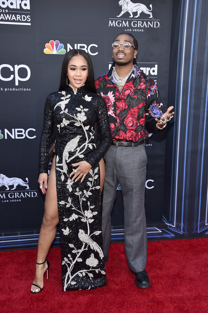 (L-R) Saweetie and Quavo of Migos attend the 2019 Billboard Music Awards at MGM Grand Garden Arena on May 1, 2019 in Las Vegas, Nevada. (Photo by John Shearer/Getty Images for dcp)