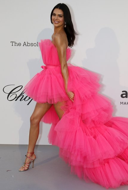 Kendall Jenner poses for photographers upon arrival at the amfAR, Cinema Against AIDS, benefit at the Hotel du Cap-Eden-Roc, during the 72nd international Cannes film festival, in Cap d'Antibes, southern France, Thursday, May 23, 2019. (Photo by Eric Gaillard/Reuters)