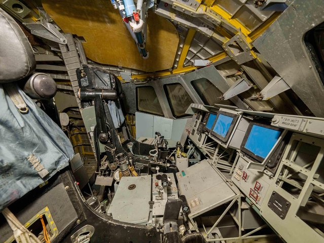 Another view of the shuttle cockpit from where spacemen would have controlled their craft. (Photo by Ralph Mirebs/Exclusivepix Media)