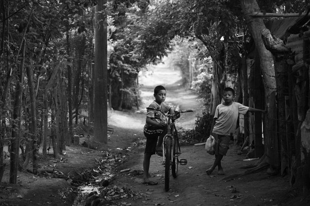 Two young boys in rural Nicaragua. This photograph highlights the devastating impact of chronic kidney disease in the Nicaraguan town of Chichigalpa. These brothers have lost cousins and uncles to a form of the disease which is thought to be linked to heavy labour in hot temperatures. (Photo by Joshua Mcdonald/Wellcome Images)