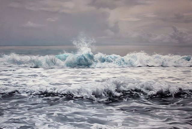 Maldives #2 41x60, soft pastel on paper. (Photo by Zaria Forman)