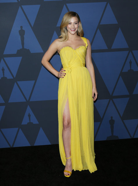 Lili Reinhart arrives to the Academy of Motion Picture Arts and Sciences' 11th Annual Governors Awards held at The Ray Dolby Ballroom at Hollywood & Highland Center on October 27, 2019 in Hollywood, California. (Photo by Michael Tran/FilmMagic)
