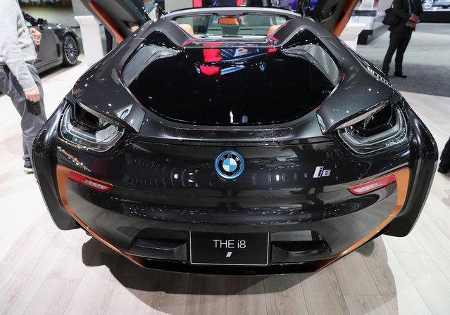 BMW i8 is displayed at the LA Auto Show in Los Angeles, California, U.S., November 20, 2019. (Photo by Lucy Nicholson/Reuters)
