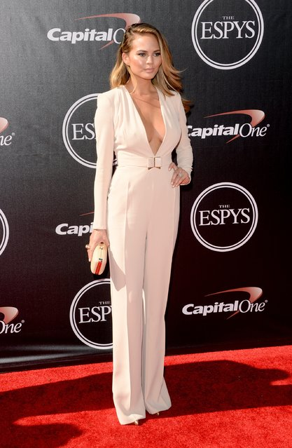 Model Christine Teigen attends The 2014 ESPYS at Nokia Theatre L.A. Live on July 16, 2014 in Los Angeles, California. (Photo by Jason Merritt/Getty Images)