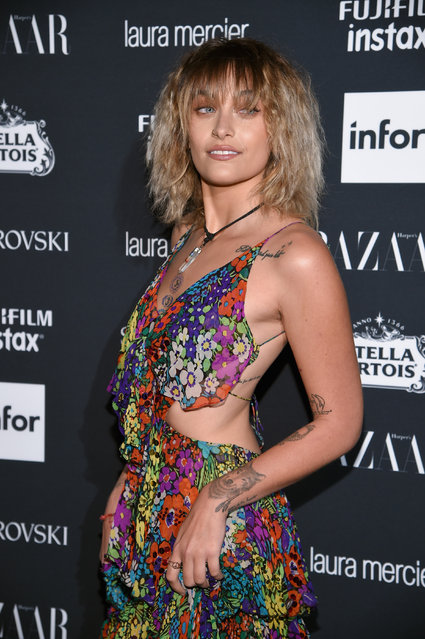 "Paris Jackson attends Harper's BAZAAR Celebration of ""ICONS By Carine Roitfeld"" at The Plaza Hotel presented by Infor, Laura Mercier, Stella Artois, FUJIFILM and SWAROVSKI on September 8, 2017 in New York City. (Photo by Dimitrios Kambouris/Getty Images for Harper's BAZAAR)"