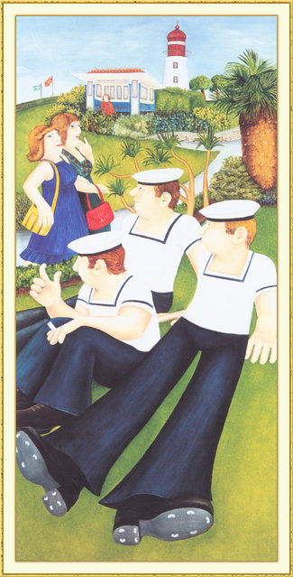 Sailors and Virgins. Artwork by Beryl Cook