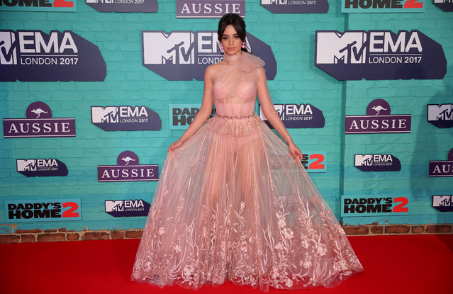 Singer Camila Cabello arrives at the 2017 MTV Europe Music Awards at Wembley Arena in London, Britain, November 12, 2017. (Photo by Hannah McKay/Reuters)