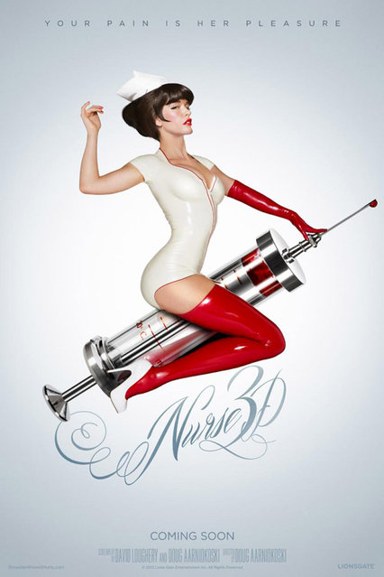"IGNITION's one-sheet for the horror film ""Nurse 3D"". (Photo by Key Art Awards 2014)"