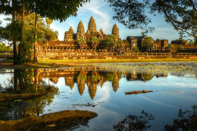 South Asian countries in terms of total contribution of travel and tourism to GDP. #1. Cambodia, Total GDP: USD 20.02 billion (2016). Contribution of Travel and Tourism to GDP: 28.3%. Here: The exterior view of Angkor Wat. (Photo by Ashit Desai/Getty Images)