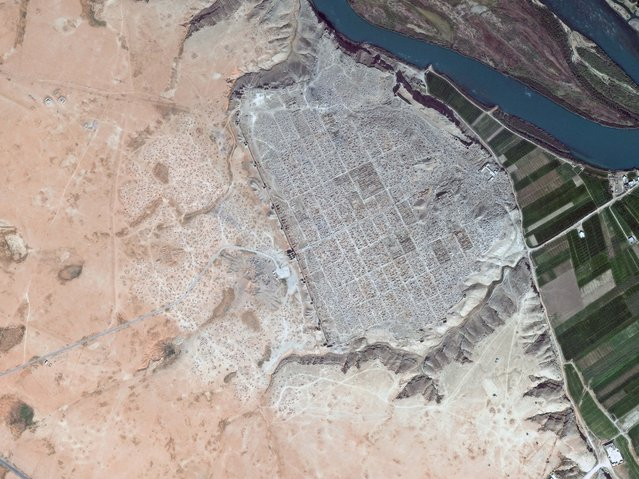 Dura-Europos, now in Syria. (Photo by DigitalGlobe/Caters News)
