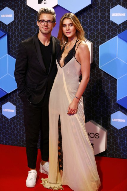Marcus Butler and Stefanie Giesinger attend the 2016 MTV Europe Music Awards at the Ahoy Arena in Rotterdam, Netherlands, November 6, 2016. (Photo by Michael Kooren/Reuters)