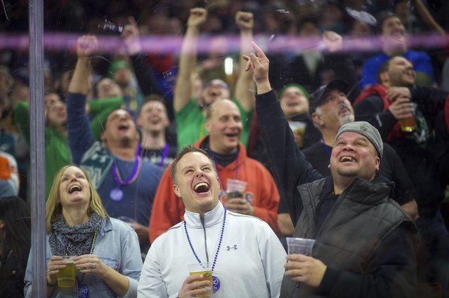 The crowd cheers during the 23rd annual Wing Bowl at the Wells Fargo Center in Philadelphia, Pennsylvania January 30, 2015. (Photo by Mark Makela/Reuters)