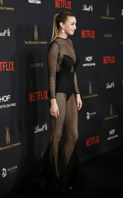 Fashion designer Whitney Port arrives at The Weinstein Company & Netflix Golden Globe After Party in Beverly Hills, California January 10, 2016. (Photo by Danny Moloshok/Reuters)