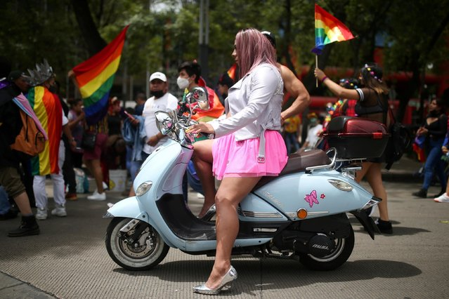A member of Mexico's LGBT community takes part in Pride month in Mexico City, Mexico, June 26, 2021. (Photo by Edgard Garrido/Reuters)