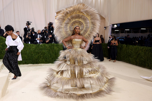Supermodel Iman attends The 2021 Met Gala Celebrating In America: A Lexicon Of Fashion at Metropolitan Museum of Art on September 13, 2021 in New York City. (Photo by John Shearer/WireImage)