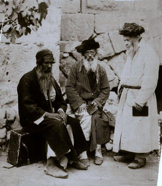Elderly Jewish men, settlers in Jerusalem, 1870