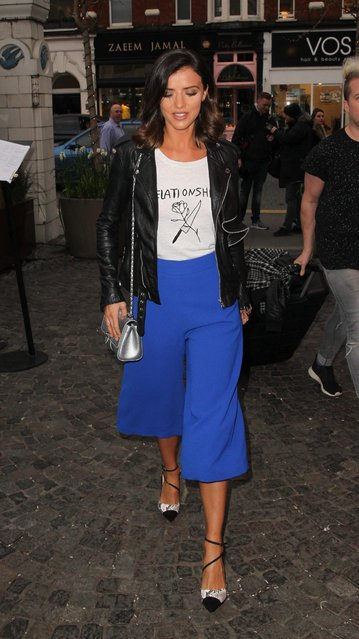 Lucy Mecklenburgh attends Twisted Halo launch party at Bluebird in Chelsea on March 29, 2017 in London, England. (Photo by Fame Flynet)