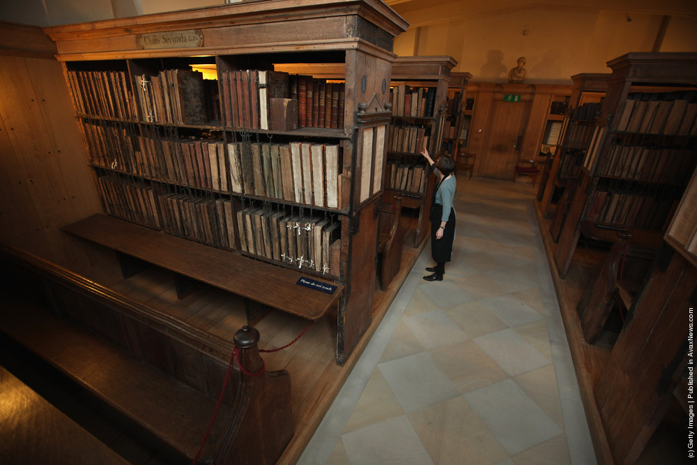 The Newly Cleaned And Extremely Rare Chained Library At Hereford Cathedral