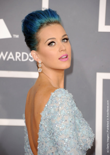 Singer Katy Perry arrives at the 54th Annual GRAMMY Awards held at Staples Center