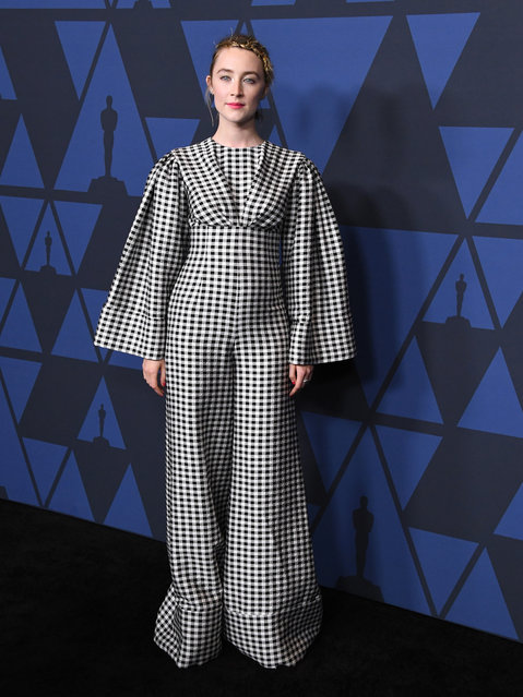 Saoirse Ronan arrives at the Academy Of Motion Picture Arts And Sciences' 11th Annual Governors Awards at The Ray Dolby Ballroom at Hollywood & Highland Center on October 27, 2019 in Hollywood, California. (Photo by Steve Granitz/WireImage)