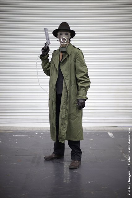 A visitor to the London Super Comic Convention dresses as The Sandman at ExCel
