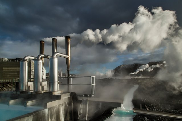 Geothermal Energy, Iceland, Larry Louie. Over 90% of the homes in Iceland are heated by geothermal energy and powered by hydro electricity. With the effects of global warming, rapidly melting glaciers in Iceland are providing an incredible amount of hydro energy. But harvesting power from nature is not without environmental consequences. (Photo by Larry Louie/2016 Atkins CIWEM Environmental Photographer of the Year)