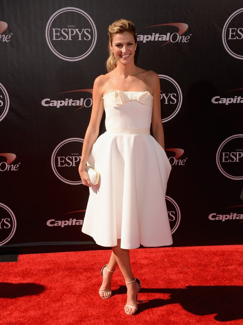 Sports reporter Erin Andrews  attends The 2014 ESPYS at Nokia Theatre L.A. Live on July 16, 2014 in Los Angeles, California. (Photo by Jason Merritt/Getty Images)