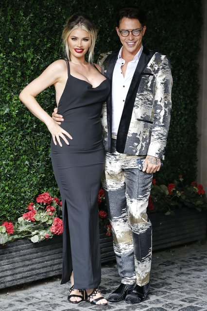 """Chloe Sims and Bobby Norris at """"The Only Way is Essex"""" TV show filming at Sugarhut, Brentwood, Essex, UK on August 23, 2017. (Photo by Beretta/Sims/Rex Features/Shutterstock)"""