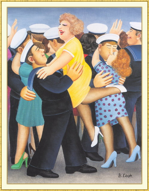 Sailors and Sweethearts. Artwork by Beryl Cook