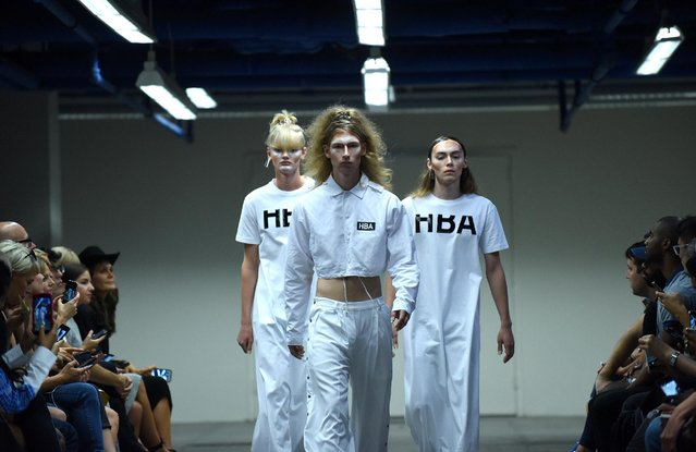 The Hood by Air Spring 2016 collection is modeled during Fashion Week, Sunday, September 13, 2015, in New York. (Photo by Diane Bondareff/AP Photo)