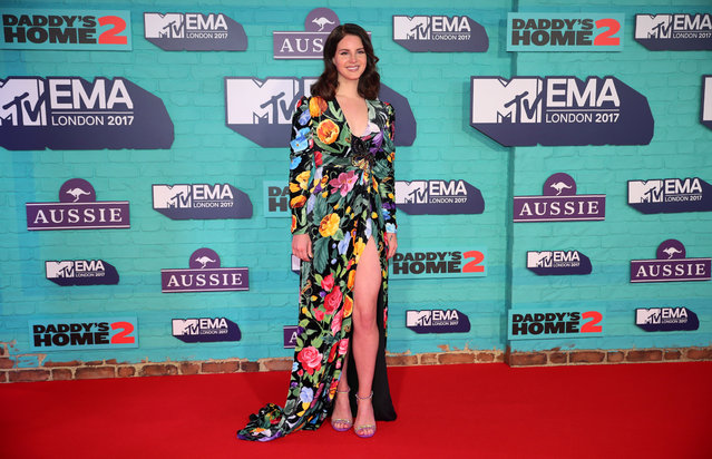 Singer Lana del Rey arrives at the 2017 MTV Europe Music Awards at Wembley Arena in London, Britain, November 12, 2017. (Photo by Hannah McKay/Reuters)
