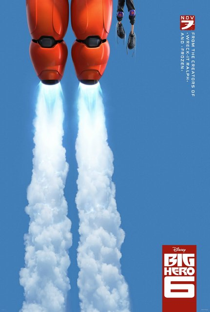 "A teaser poster for the forthcoming Disney animated film, ""Big Hero 6"". Design firm: Art Machine, Los Angeles. (Photo by Key Art Awards 2014)"