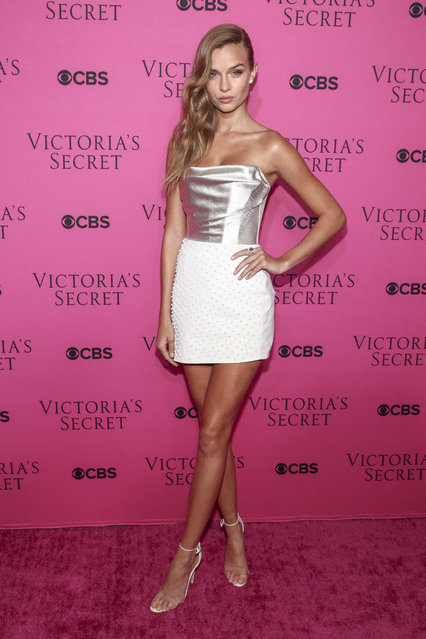 Josephine Skriver attends the Victoria's Secret fashion show viewing party at Spring Studios on Tuesday, November 28, 2017, in New York. (Photo by Andy Kropa/Invision/AP Photo)