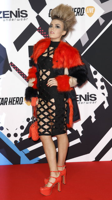 Scottish singer Tallia Storm poses on the red carpet during the MTV EMA awards at the Assago forum in Milan, Italy, Sunday, October 25, 2015. (Photo by Alessandro Garofalo/Reuters)