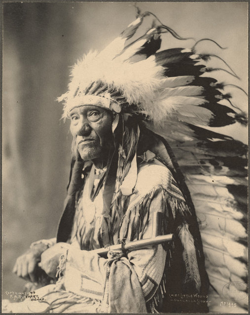 Chief Little Wound, Ogalalla Sioux, 1899. (Photo by Frank A. Rinehart)