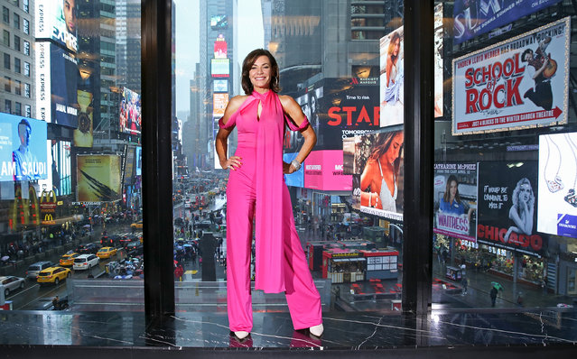 """TV personality Luann de Lesseps visits """"Extra"""" to discuss """"Real Houseswives of New York"""" at R Lounge at the Renaissance Hotel on April 3, 2018 in New York City. (Photo by Bennett Raglin/Getty Images for Extra)"""