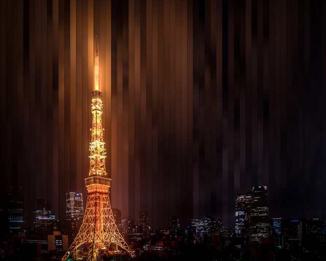 Tokyo Tower: 65 photographs, 4 hours. (Photo by Daniel Marker-Moors/Caters News)