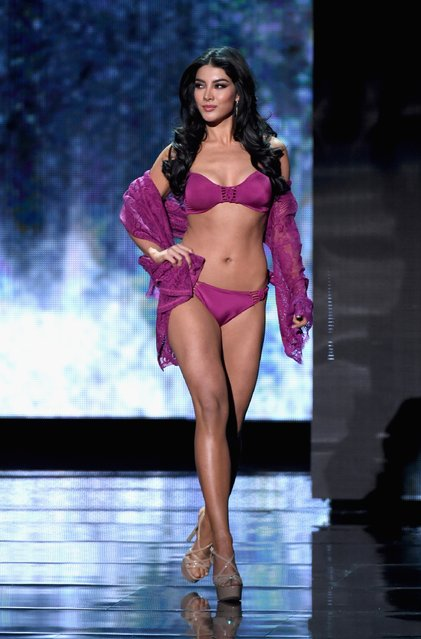 Miss Mexico 2015, Wendy Esparza, competes in the swimsuit competition during the 2015 Miss Universe Pageant at The Axis at Planet Hollywood Resort & Casino on December 20, 2015 in Las Vegas, Nevada. (Photo by Ethan Miller/Getty Images)