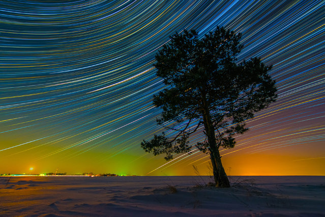 Vibrate, colorful star trails. (Photo by Evgeniy Zaytsev/Caters News)